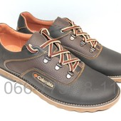 Мужские кожаные туфли демисезонные, 3 цвета