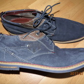 (i55)новые фирменные кожанные туфли 45 р Bugatti