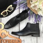 Фирменные ботинки челси с острым носком и матовым верхом SH3424