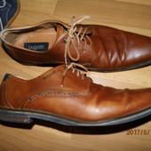 (i63) фирменные кожаные туфли 45 р Bugatti
