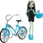 Monster High boltin bicycle frankie stein Френки Штейн и велосипед