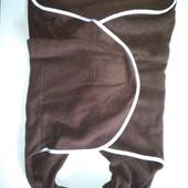 Пеленка-конверт флисовый на 6-12 мес