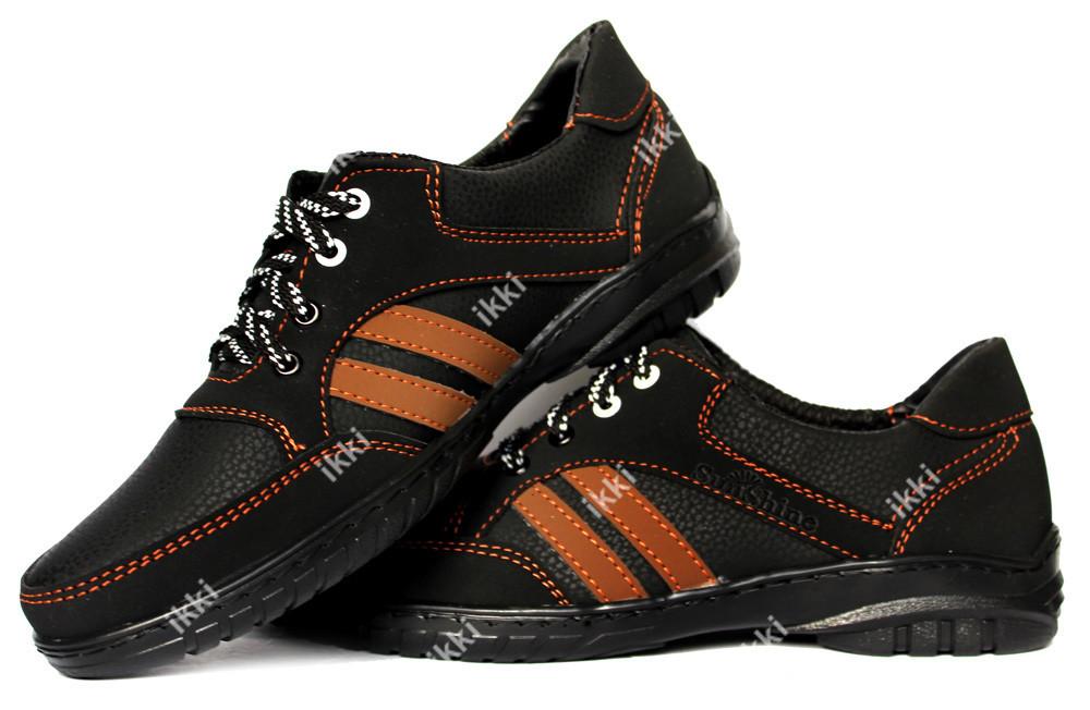 Мужские кроссовки повседневные черного цвета (СКР-9-3) фото №1
