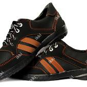 40 и 42 р Мужские кроссовки повседневные черного цвета (СКР-9-3)