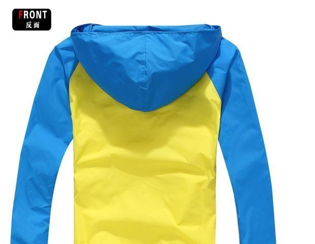 Жёлто-голубая ветровка 1572 м.л.хл фото №2