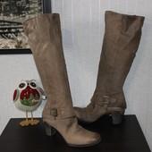 39 25,5см YKX&Co. Кожаные осень высокие сапоги