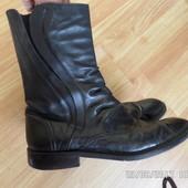 Zara Classic 41р 27см шкіряні чоботи