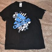 мужская футболка Adidas оригинал размер M-L орг Хлопок отл сост
