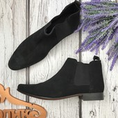Мужские ботинки челси Asos с острым носком из натуральной замши  SH3533