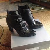 Кожаные ботинки на осень 40