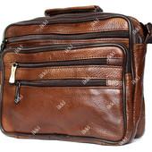 Мужская светло-коричневая сумка из натуральной кожи (7003ск)