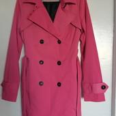 Фирменный модный розовый и зеленый плащ