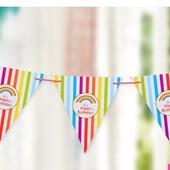 Праздничная лента гирлядна растяжка декор день рождения годовщина