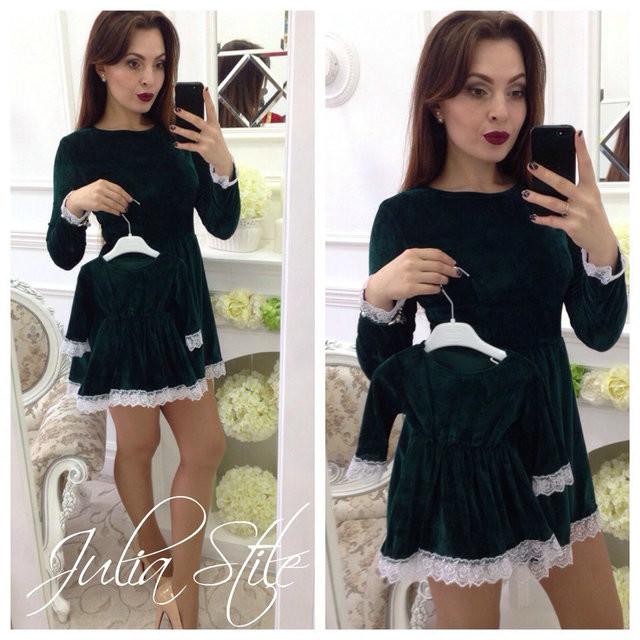 c1ce204e8c09 Family look комплект 2 платья велюр мама дочка цвета, цена 720 грн ...