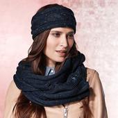 Шикарный комплект, теплый шарф снуд и повязка Тсм Tchibo. Германия.