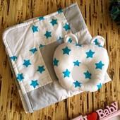 Комплект детское одеялко на тонком слое синтепона и детская ортопедическая подушка