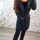 Размеры 42-54 Элегантное кашемировое женское пальто-кардиган