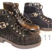 Женские кожаные ботинки, осень/весна, цвета