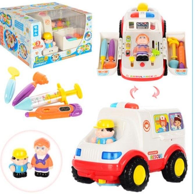 Машина скорая помощь с игровым набором доктора 836. huile toys супер цена более 1200 отзывы фото №1