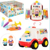 Машина скорая помощь с игровым набором доктора 836. Huile Toys Супер цена