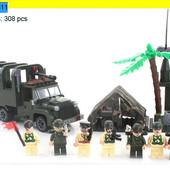 """Конструктор Brick 811 """"Военный грузовик"""" 308 деталей"""