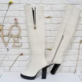 Ботфорды в черной замше на высоком каблуке коллекция осень-зима код:Ж М-16073