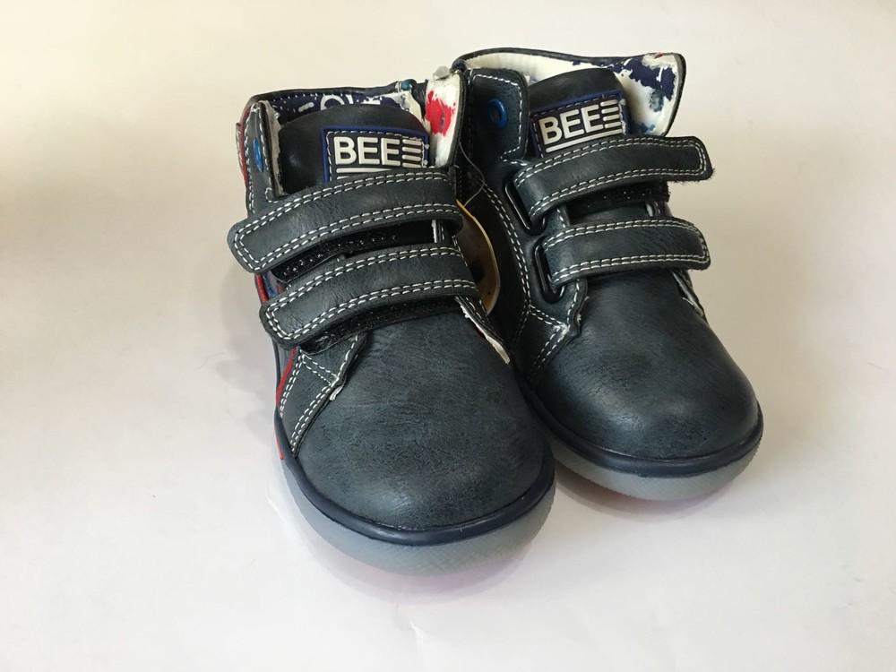 Ботинки демисезонный для мальчика clibee синие фото №3