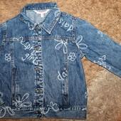 Пиджак джинсовый на девочку 128-134 р