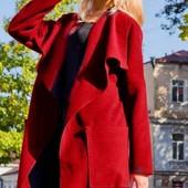 Стильный женский кашемировый кардиган-пальто