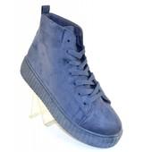 Ботинки на рифленой подошве Т001