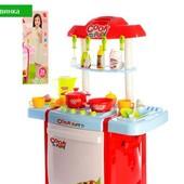 Кухня детская с посудкой, свет и звук Bambi 889-58