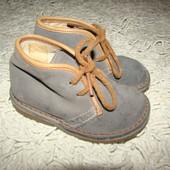 Демисезонные замшевые ботинки пр-ва Франция размер 5, 22, 13,5 см по стельке