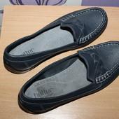 туфли мокасины Hotter кожа Англия разм 38.5 по стельке 25.5 см сост новых