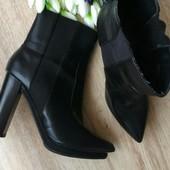 Zara Оригинал стильные полусапожки,ботинки 40-41р/26,5+-