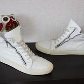 44 29,5см Bocage Кожаные кеды ботинки на шнуровке хайтопы