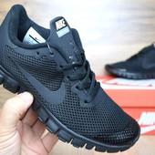 Кроссовки Nike Free Run 3.0 black 40-43р