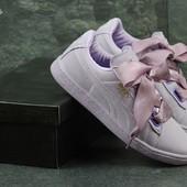 Кроссовки женские Puma Suede Bow purple