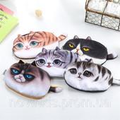 Коты пеналы косметички 3D кот. Наличие