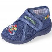 Тапочки Nazo 029 DB сменная обувь для сада и дома(джинсовые)