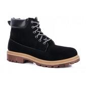Модные зимние ботинки отличного качества - черные (Fa-1)