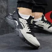 Кроссовки мужские Nike Huarache black/beige
