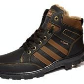 Ботинки-Кроссовки мужские на Зиму, утепленные (СБ-08)