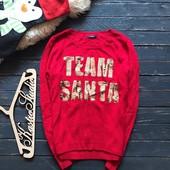 Стильный новогодний свитер с пайетками George р-р Хл