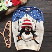 Крутой новогодний мужской свитер Cedarwood State р-р Хл