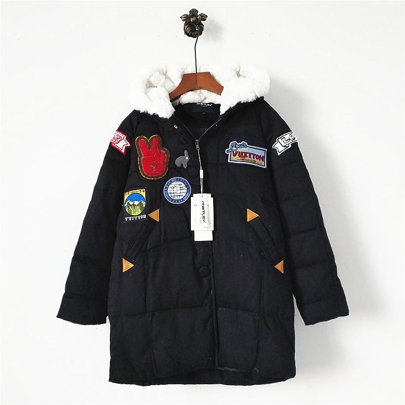 Куртка пальто еврозима с нашивками зеленая и черная фото №1