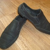 Туфли мокасины кожа