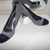 Туфли текстиль  с отливом -F&F -UK 5 eur.38  - сток!!!
