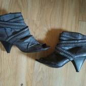 George туфли ботильйоны полу сапоги с открытым носком 40р