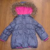 Фирменная JL деми куртка девочке 1,5-2,5 лет два в одном идеал