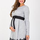 Очень красивое платье для беременных и кормящих, серый меланж